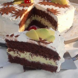 Чоколадна авокадо торта