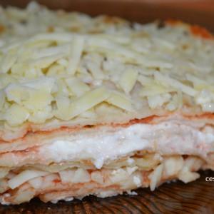 Палачинки со биено сирење во рерна