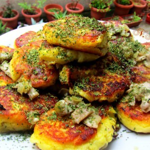 Зрази со компири и печурки (посно)