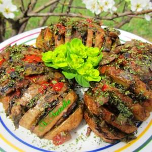 Лапеза од компири со печурки