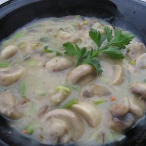 Бел сос од печурки (посно)
