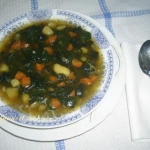 Чорба со коприви, компир и морков(посно, без масло)