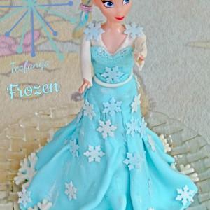 Frozen роденденска торта (посно)