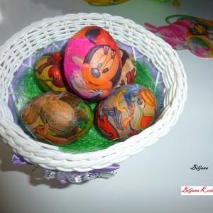 Велигденски јајца со салфетки