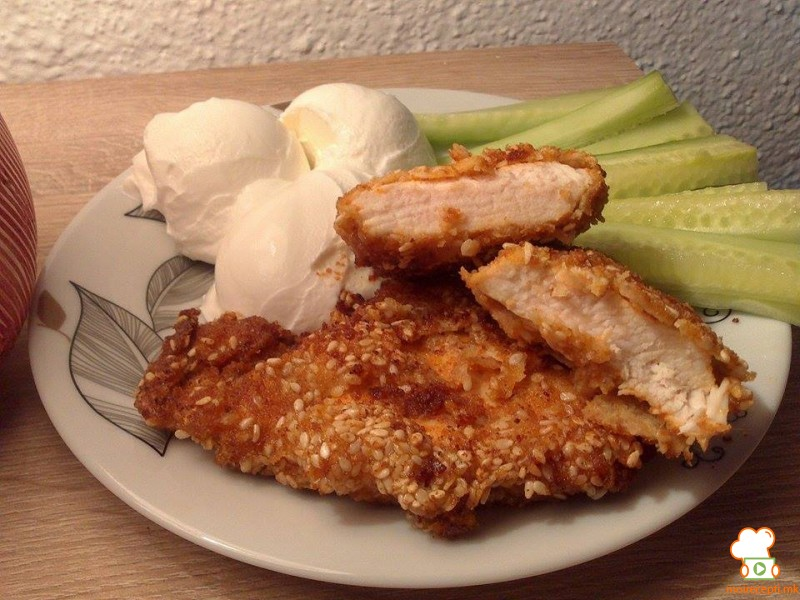 Мариниран и похуван пилешки стек