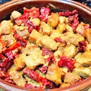 Селско месо со супа од печурки