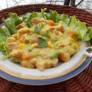 Царско месо со сос од зеленчук
