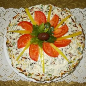 Солена торта од тиквички и моркови