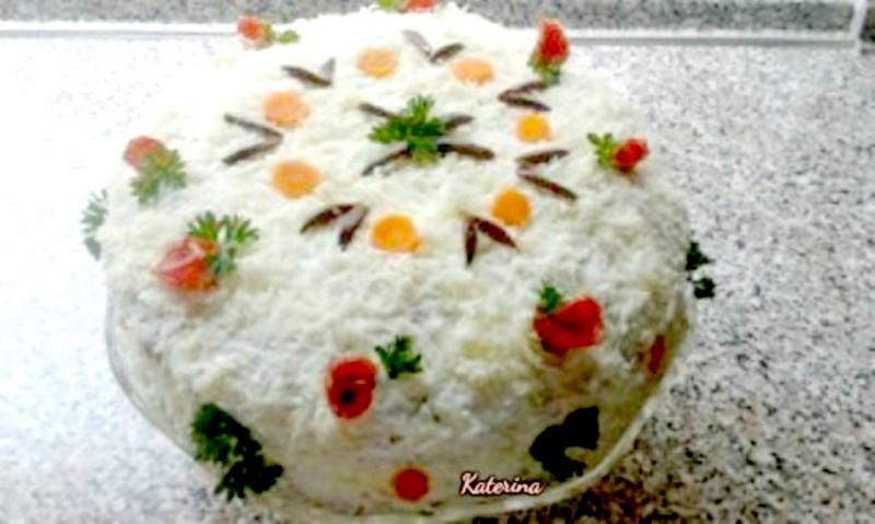 Летна торта од палачинки и кисела павлака