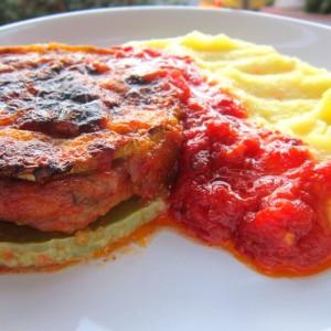 Сендвич од тиквички со мелено месо
