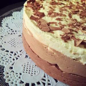 Тројно чоколадна мус торта (без печење)