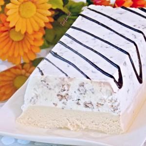 Ледена торта со чоколадо со ориз