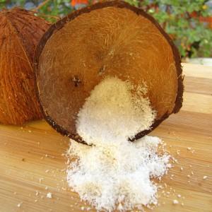 Домашно кокосово брашно и кокосова павлака