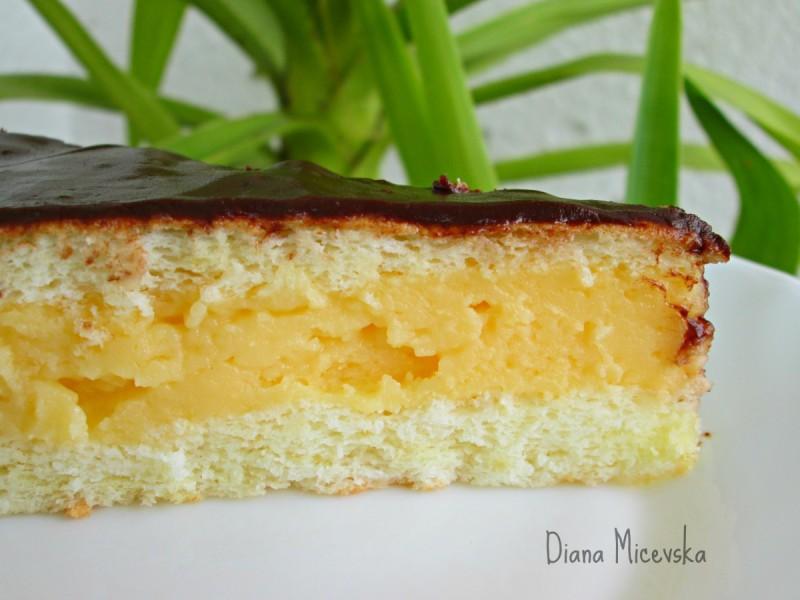 Ангелска торта со ванила крем