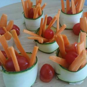 Декорација со свеж зеленчук