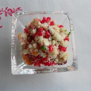 Необична салата - оброк  со кус кус и калинка