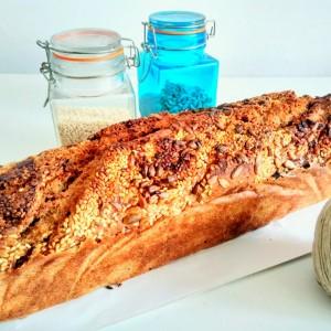 Интегрален ржан леб со 4 мелени семиња (хроно)