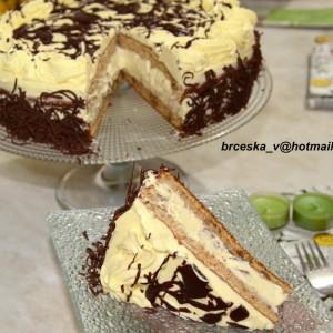 Бела крем торта