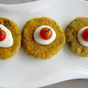 Плескавици од кус кус и зеленчук