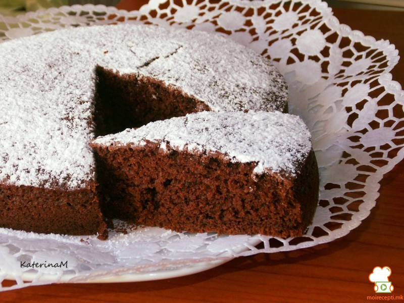 Колач (торта) со какао и кафе (посно)
