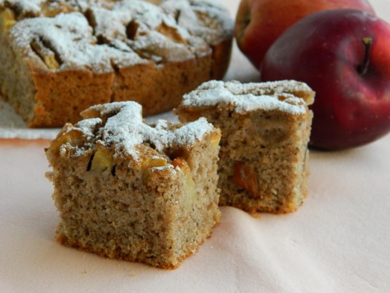 Интегрална торта со јаболка (посно)