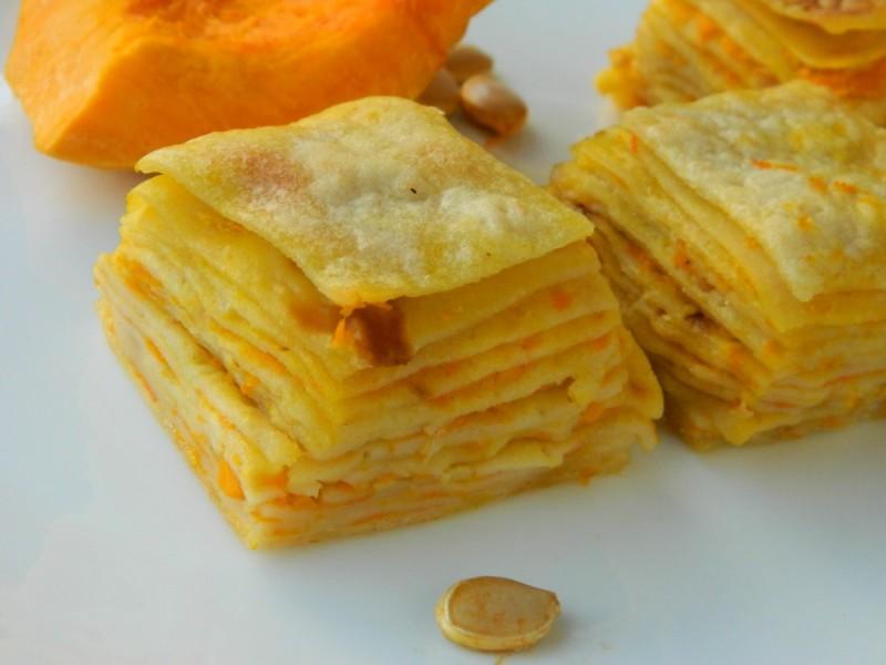 Солени палачинки со тиква (посно)