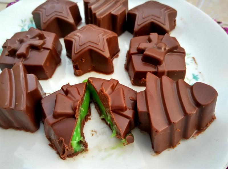 Ментол чоколадни пралини