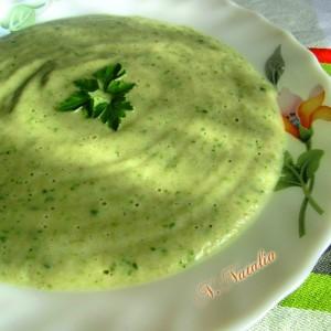 Крем супа од печурки со млеко и магдонос