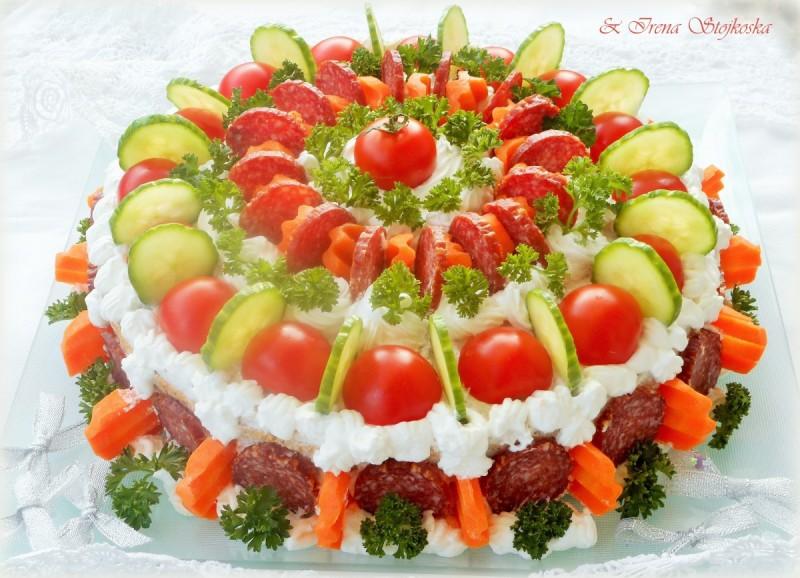 Солена торта со ореви ( 300-ти рецепт )