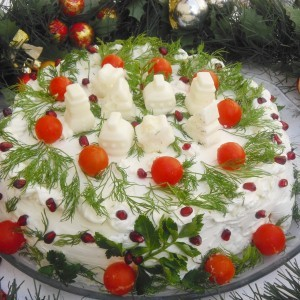 Солена торта од палачинки