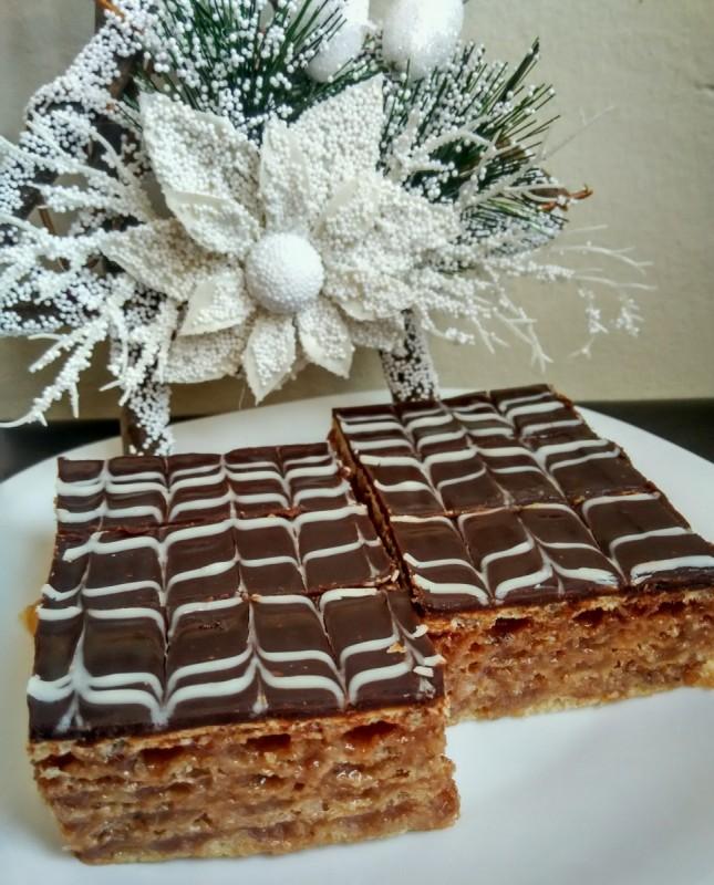 Пишингер торта (со листови обланда)
