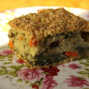 Брза пита со маслинки, моркови, блитва и ленено семе (без јајца)