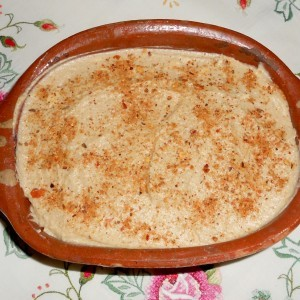 Дип од бел грав и овчко бело сирење