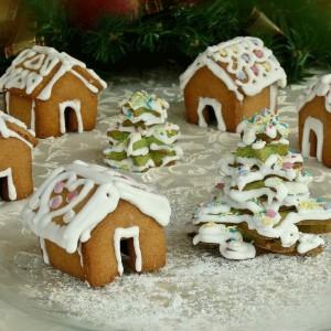 Божиќни куќички и елки