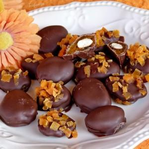 Чоколадни пралини со суви кајсии и бадеми (хроно, посно)