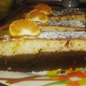 Торта со лешници и мандарини (или портокал)
