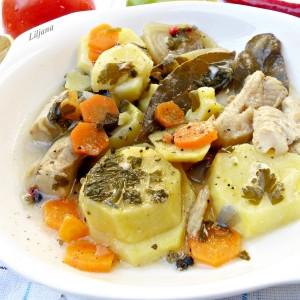 Ослич со компир (посно)