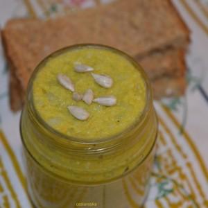 Зеленчуков намаз со сончоглед и компири (посно)