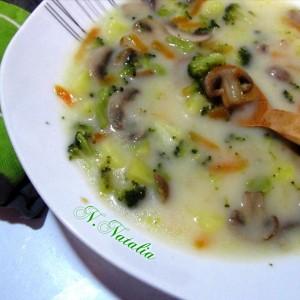Супа од печурки и брокула