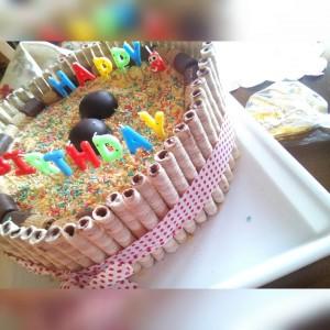 Детска роденденска торта со фин крем