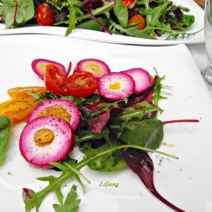Зеленчукова салата со јајца