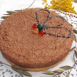 Чоколаден кус кус колач со амарети