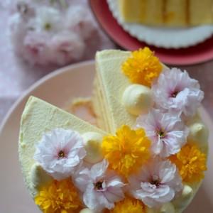 Бисквитна торта со лимон крем