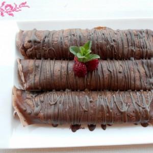 Чоколадни палачинки со ганаш крем и малини