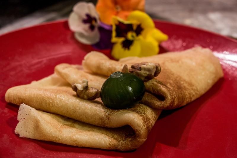 Основно тесто за палачинки (фил од смокви и ореви)