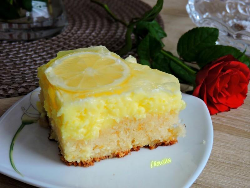 Освежителна лимон торта
