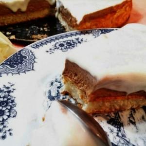 Крем торта со кокос и чоколадо