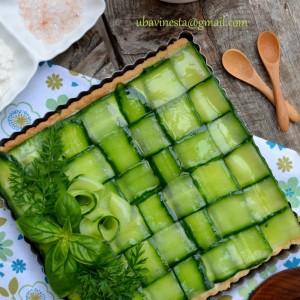 Тарт со фил од урда и краставица