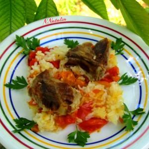 Свинско со ориз и домати