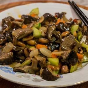 Шитаке печурки со кикиритки и зеленчук (кинеско)